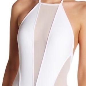 Ted Baker white mesh swimsuit